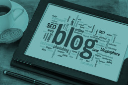 ipad with SEO, Blog and other online words