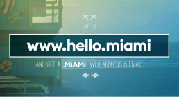 Beach scene Hello Miami website home