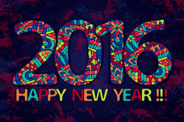 NEW Year 2016 words colorful