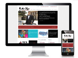Mr Tux Website home page