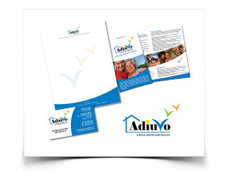Adiuvo Company Logo and business handouts and cards