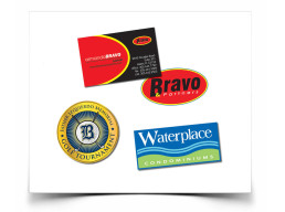 Logos for Bravo, Golf tournament, Waterplace