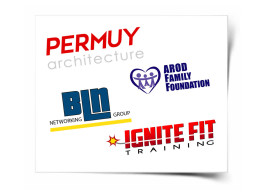 Logos for Arod, Permuy BLN and Ignite